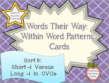 Words Their Way: Within Word Patterns: Sort 8: Short –i Ve