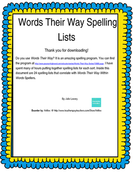 Words Their Way Within Words Spelling 25-48 (2003)