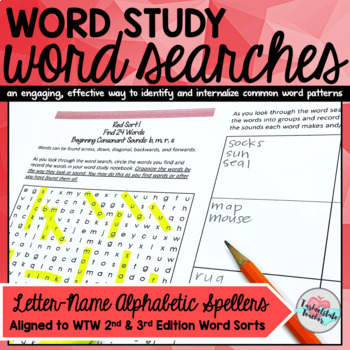 Words Their Way Word Searches Letter-Name Alphabetic Spellers