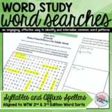 Word Searches Syllables and Affixes Spellers