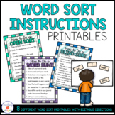 Words Their Way Word Sort Instruction Posters