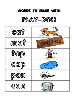 Words To Make with Play-Doh