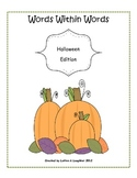 Words Within Words Halloween Word Activity FREE
