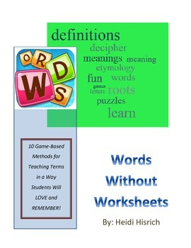 Words Without Worksheets Vocabulary Games