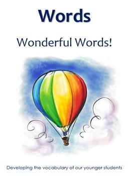 Words Wonderful Words -  5 Senses Vocabulary
