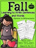 Fall Words and Sentences