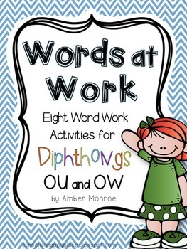 Words at Work {Eight Word Work Activities for Diphthongs O