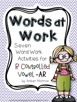 Words at Work {Seven Word Work Activities for R Controlled