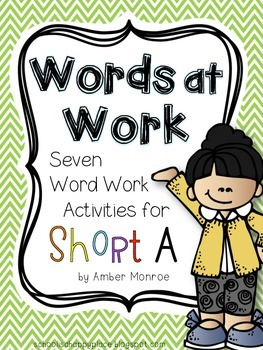 Words at Work {Seven Word Work Activities for Short A}