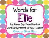 Words for Ellie {FREE Pre Primer Sight Word Cards & Word F