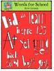 Words for School-Colours Galore {P4 Clips Trioriginals Dig