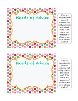 Words of Advice Postcard