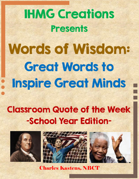 Words of Wisdom: Quote of the Week-School Year Edition (Co