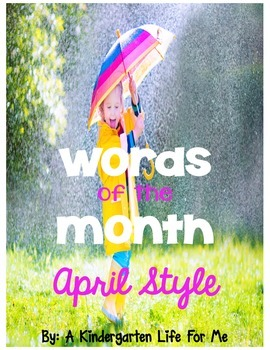 Words of the Month - April Style