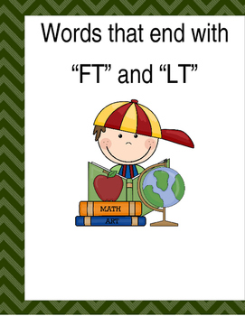 "Words that end with ""FT"" & ""LT"" (Based on Orton Gillingham"