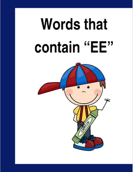 """Words that contain """"EE"""" (Based on Orton Gillingham.) 3 pag"""
