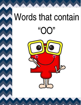 "Words that contain ""OO"" (Based on Orton Gillingham.) 3 pag"