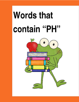 """Words that contain """"PH"""" (Based on Orton Gillingham.) 3 pag"""