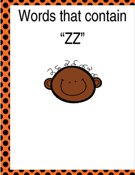 """Words that contain """"ZZ"""" (Based on Orton Gillingham.) 3 pag"""