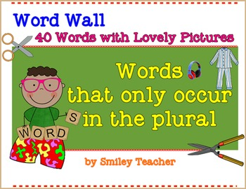 Plural Nouns Word Walls