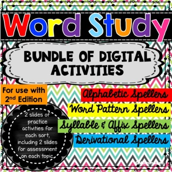 Word Work Digital Activities - a DIGITAL BUNDLE for Google Drive by Mummabell