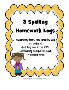 Words their Way Spelling Homework Bundle #2