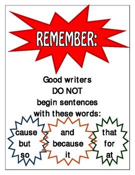 Words to Avoid When Starting Sentences