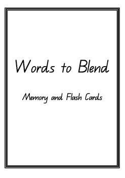 Words to Develop Blending Skills
