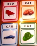 Words-to-Pictures Matching Flash Cards. Reading Writing. A