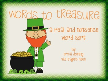 Words to Treasure--Real/Nonsense word sort