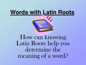 Words with Latin Roots-1