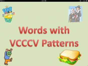 Words with Vowel, Consonant, Consonant, Consonant, Vowel P