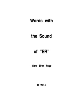 "Words with the Sound of ""ER"""