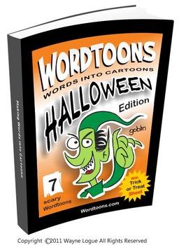 Wordtoons Halloween  7 Scary Words into Cartoons
