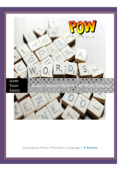 Wordy! Wordy! Wordy-One Word Debates