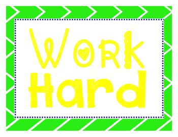 Work Hard & Be Kind Class Rules
