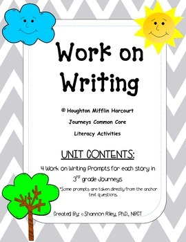 Work On Writing {3rd Grade Journey's}