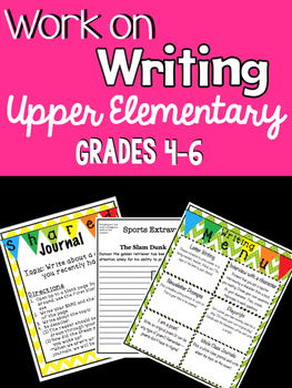 Work On Writing: Upper Elementary