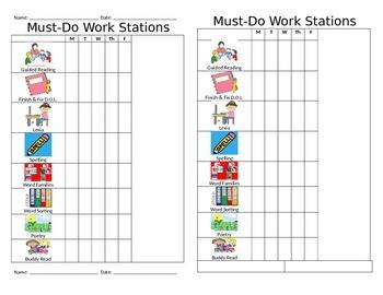 Work Station Accountability Sheet