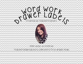 Word Work Supply Labels