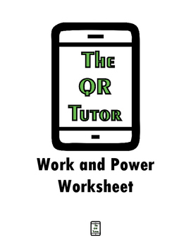 Work and Power Worksheet