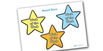 Work of the Week Award Star