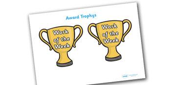 Work of the Week Award Trophy