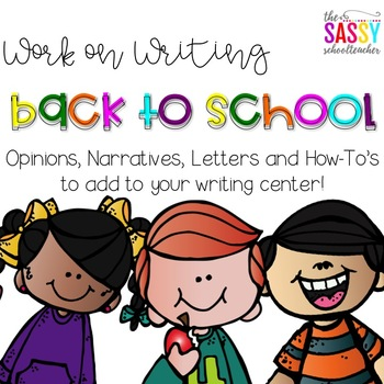 Work on Writing - Back to School Edition