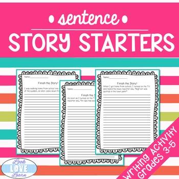 Sentence Story Starters Writing Activity