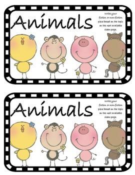 Work on WritingClass Journal Label:  Animals