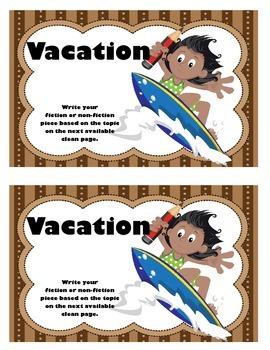 Work on WritingClass Journal Label:  Vacation