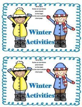 Work on WritingClass Journal Label:  Winter Activities