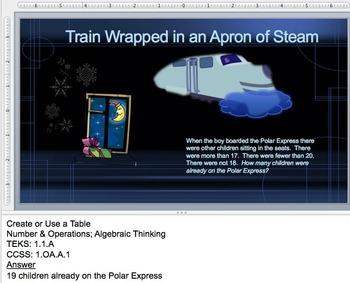 Polar Express Work the Words: 1st Grade Math Story Problems