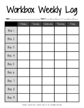 Workbox Weekly Log